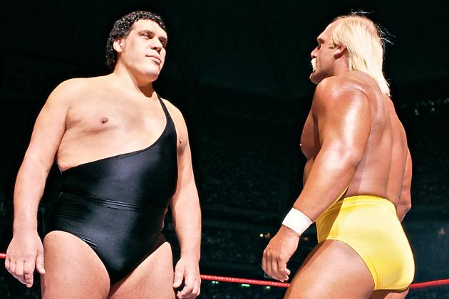 Hogan and Andre square off.
