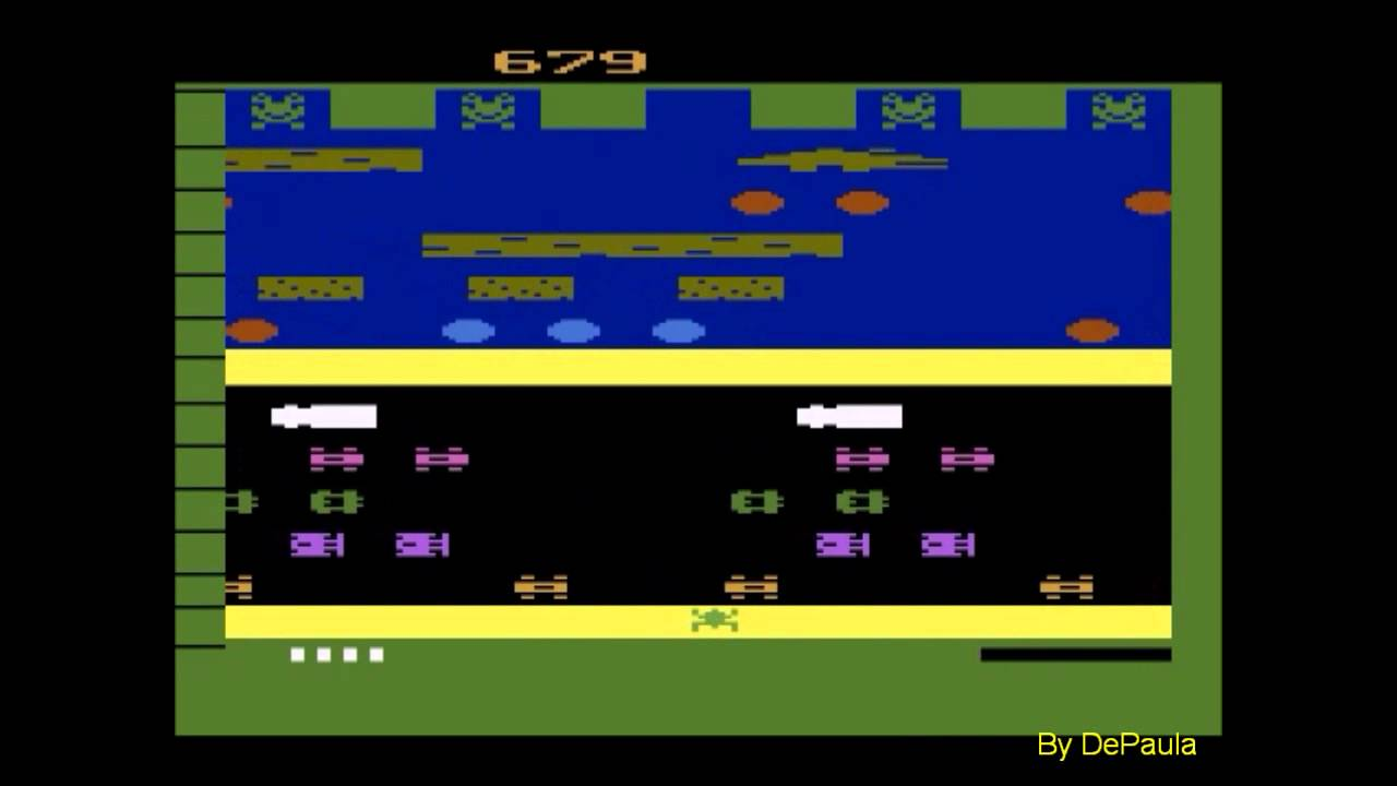 Frogger Atari 2600 Screenshot