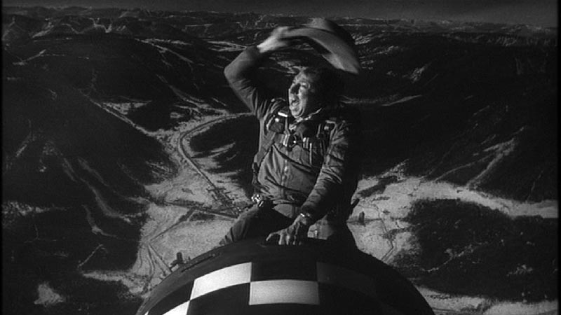 Slim Pickens Riding the Bomb in Dr. Strangelove