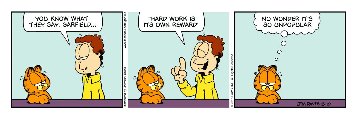 Garfield comic strip by Jim Davis