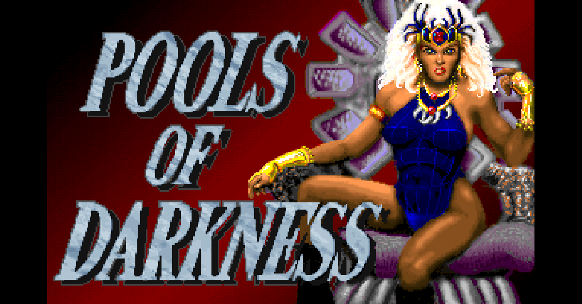 Pools of Darkness Title Screen